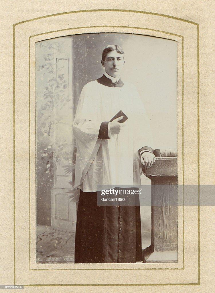 Victorian Padre fotografia antiga : Ilustração