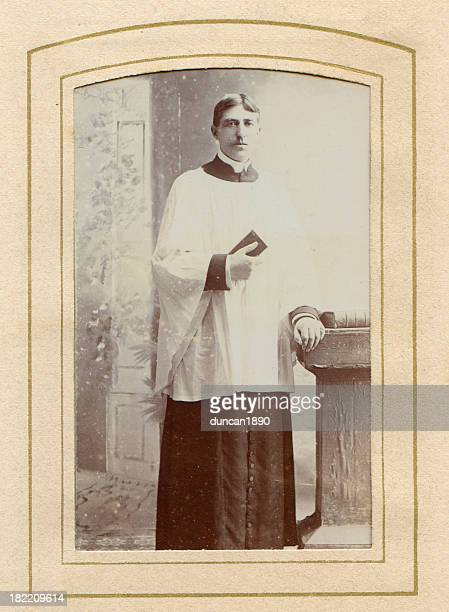 victorian priest old photograph - sunday best stock illustrations, clip art, cartoons, & icons