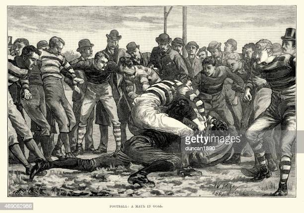 Victorian Rugby Football - Maul in Goal, 1882