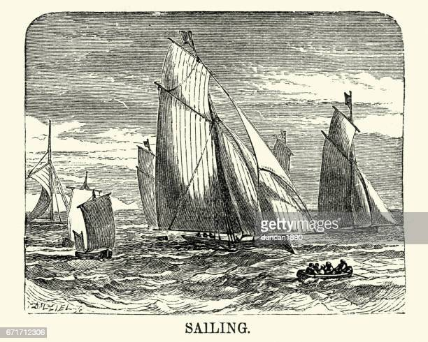 Victorian sailing yachts, 19th Century