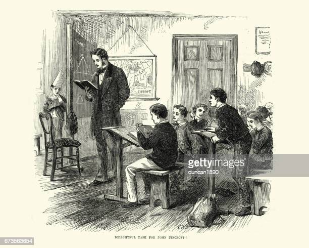 Victorian schoolboys and teacher learning in the classroom, 19th Century