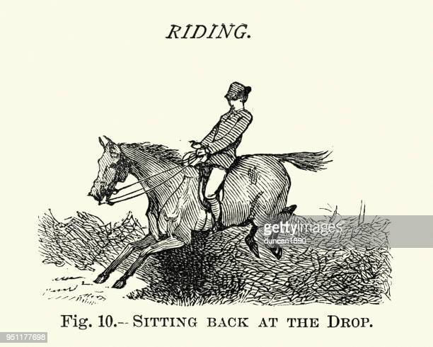 Victorian sports, Riding, Sitting back at the drop, 19th Century