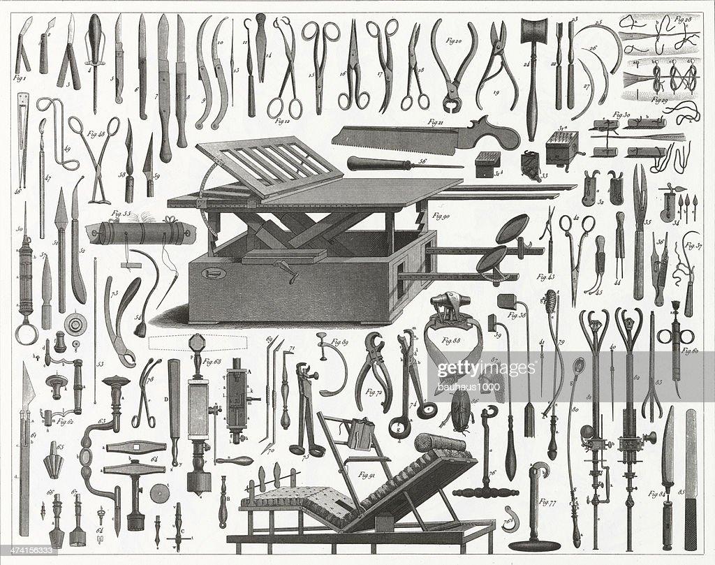 ビクトリア手術用具 : ストックイラストレーション