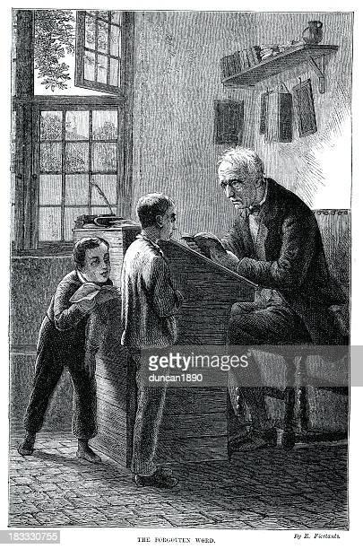 Victorian Teacher and Schoolboy
