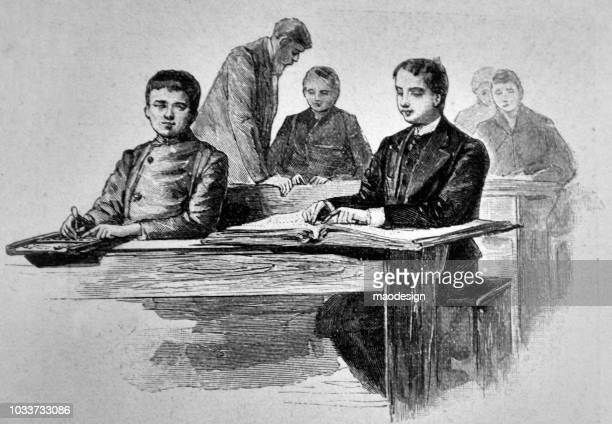 Victorian teenagers learn at school - 1895