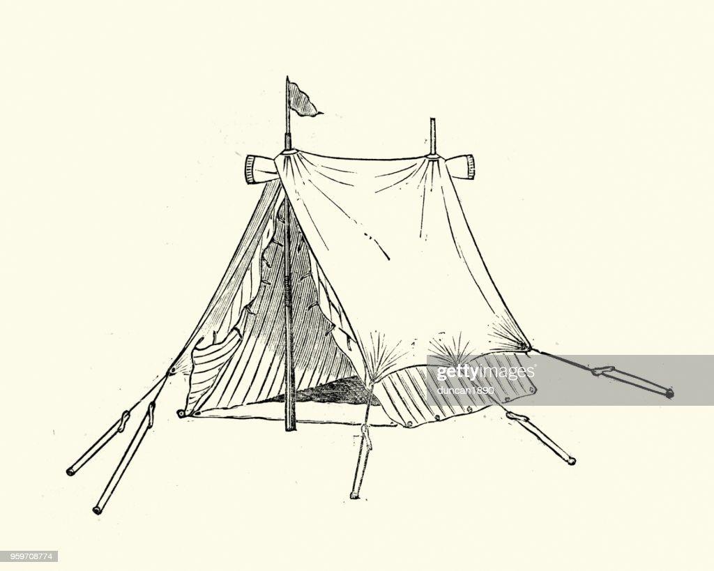 Viktorianische Zelt, 19. Jahrhundert : Stock-Illustration