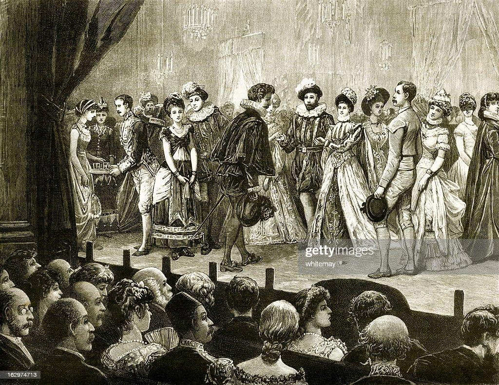 Victorian Representação teatral com audience : Ilustração