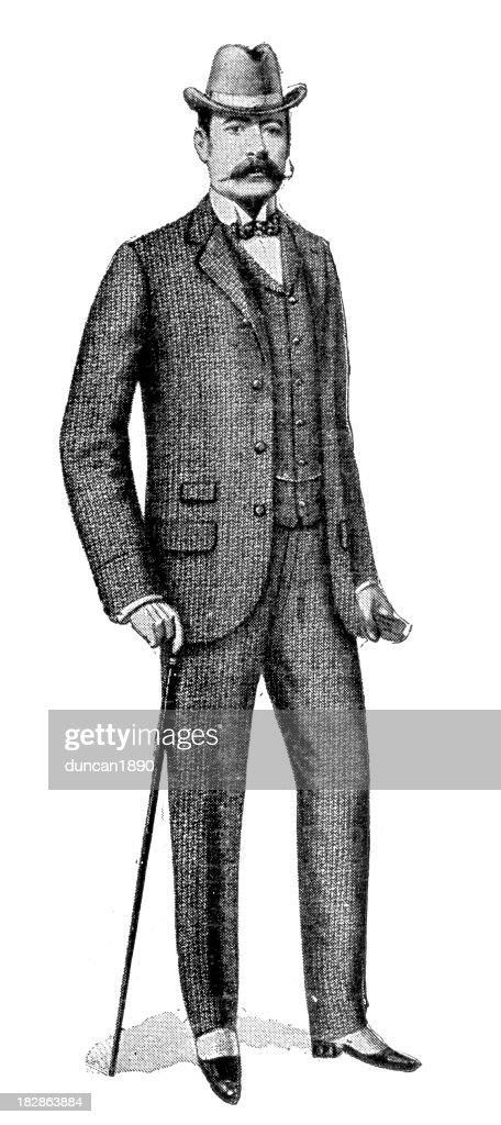 Victorian Tweed Suit : stock illustration