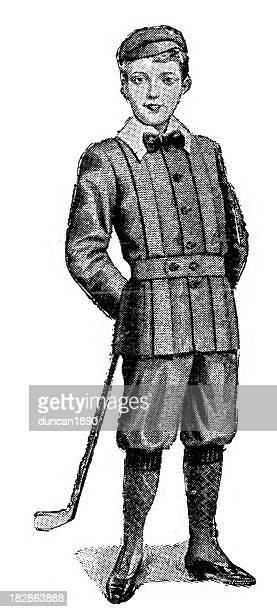 victorian tweed suit - scottish tweed stock illustrations, clip art, cartoons, & icons