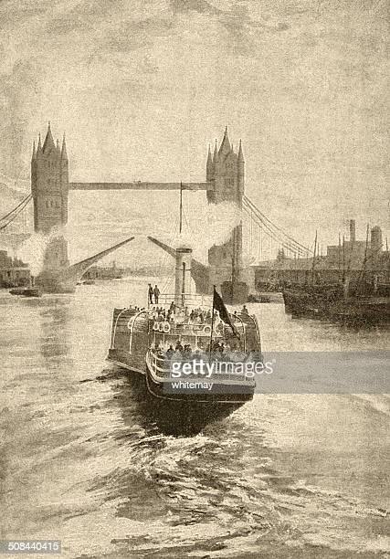 Victorian view of Tower Bridge, London