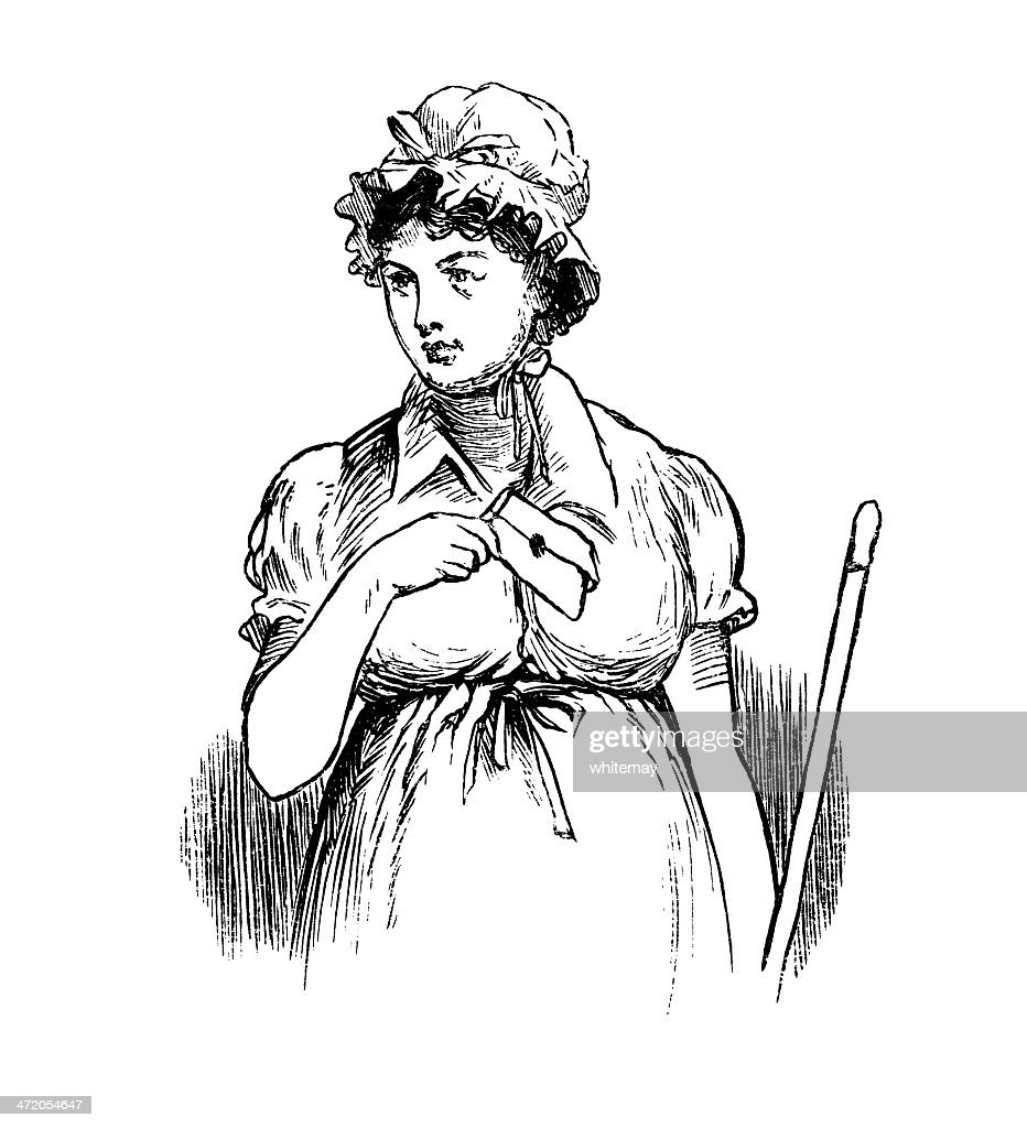 Victorian Woman With A Letter Stock Illustration Getty Images