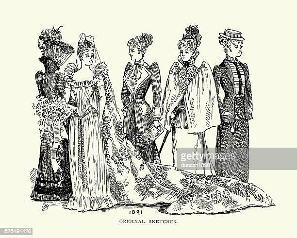 Victorian womens fashion from the late 19th Century