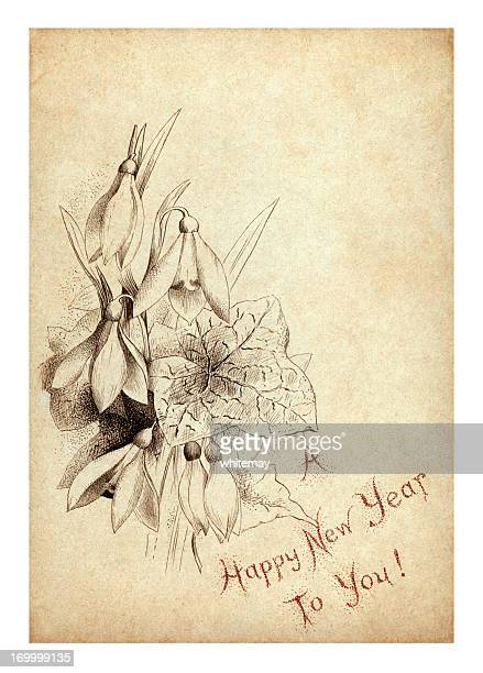 Victorian/Edwardian New Year card
