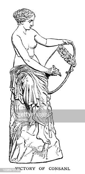 victory of cansani - aphrodite stock illustrations, clip art, cartoons, & icons