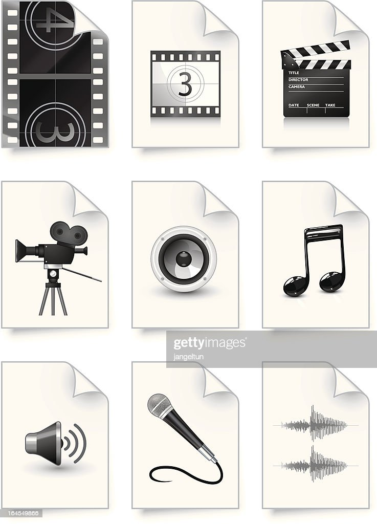 Video and audio document icons