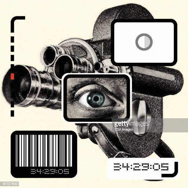 video camera collage - film camera stock illustrations, clip art, cartoons, & icons
