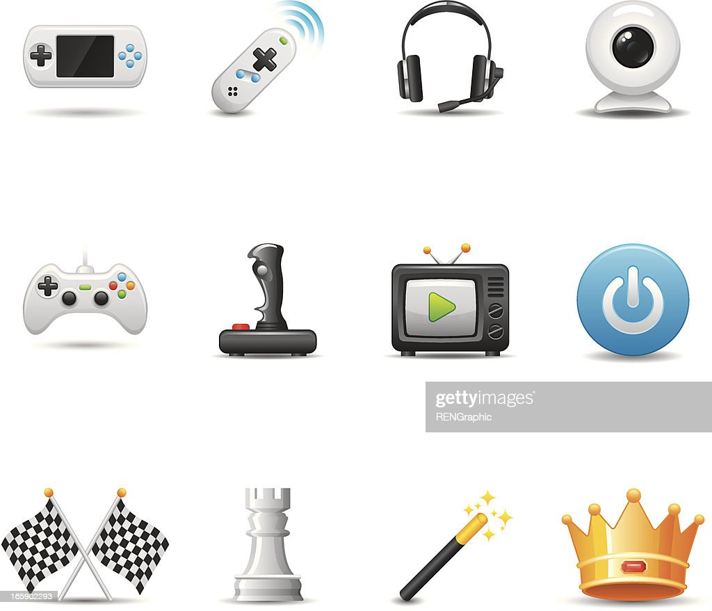 Video Game Icon Set | Elegant Series