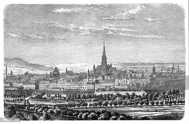 vienna in 1848. - 1840 1849 stock illustrations