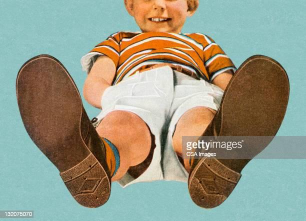 少年からの足