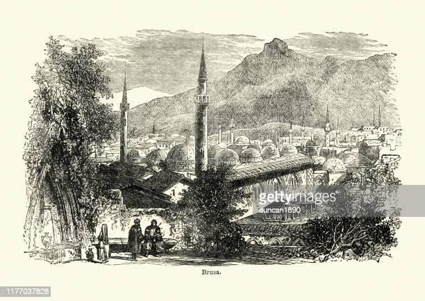 ブルサの眺め、トルコ、19世紀 - アナトリア点のイラスト素材/クリップアート素材/マンガ素材/アイコン素材