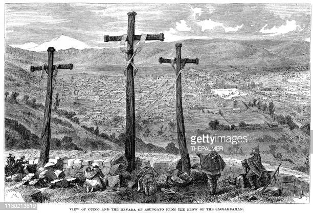View of Cusco engraving 1868