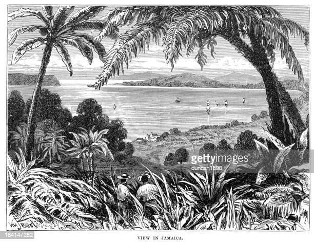 view of jamaica - jamaican culture stock illustrations, clip art, cartoons, & icons
