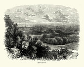 vintage engraving view new haven connecticut