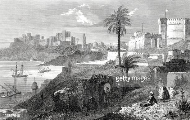 illustrations, cliparts, dessins animés et icônes de vue d'oran, algérie - algeria archive