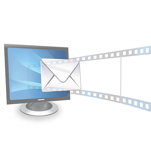 view of presentation and email from monitor