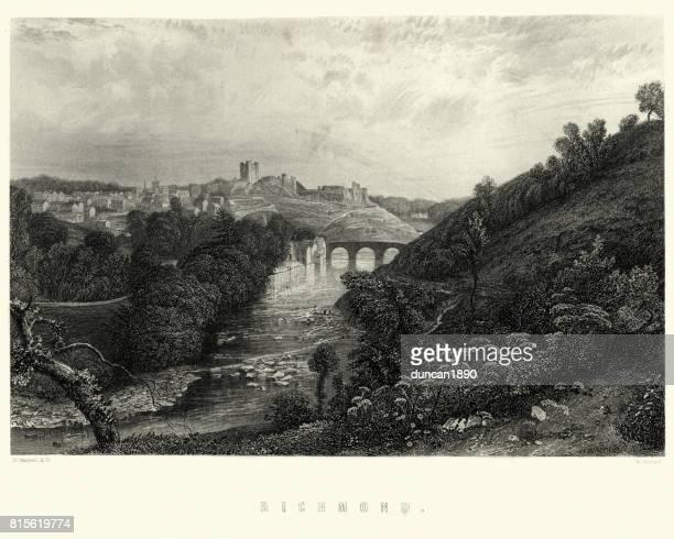 View of Richmond, North Yorkshire, 19th Century