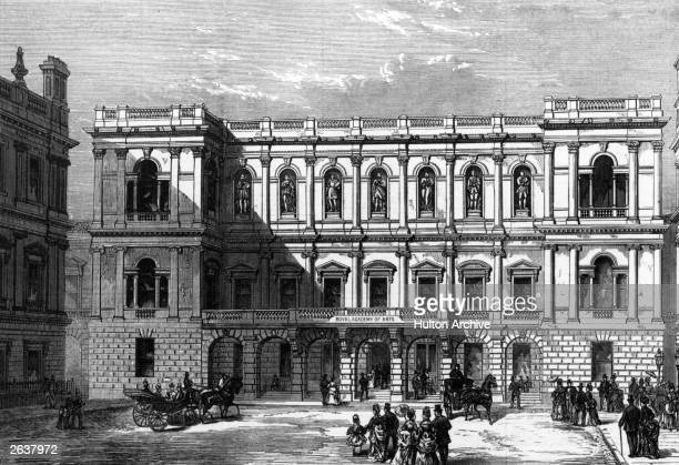 View of the New Royal Academy at Burlington House, in Piccadilly, London.