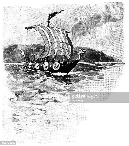 Vikings on the sea - 1896