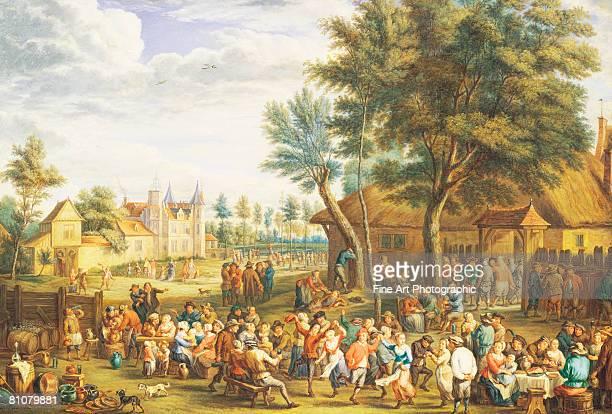 a village dance - 1800~1809年点のイラスト素材/クリップアート素材/マンガ素材/アイコン素材