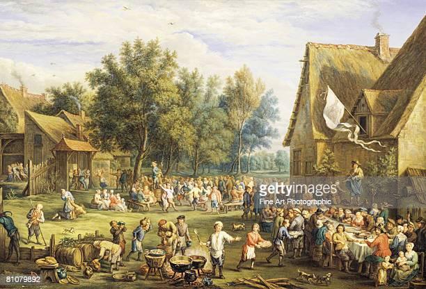 a village feast - 1800~1809年点のイラスト素材/クリップアート素材/マンガ素材/アイコン素材