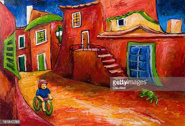 illustrations, cliparts, dessins animés et icônes de village en italie - village