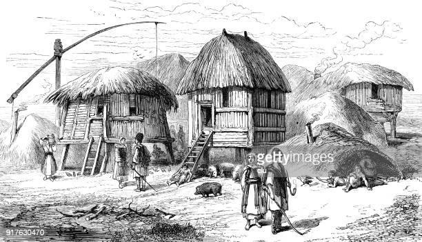 village in the dardanelles - 1877 stock illustrations, clip art, cartoons, & icons
