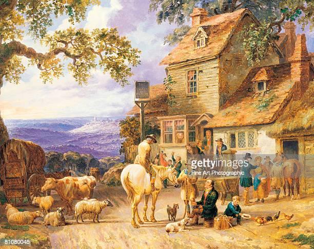 a village tavern - 1840 1849 stock illustrations