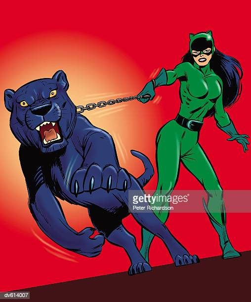 Villainess with Aggressive Panther