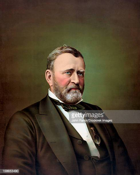 vintage american history painting of ulysses s. grant during his term as president of the united states. - ulysses s grant stock illustrations