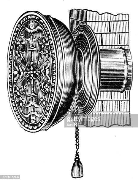 vintage ancient fan - medical ventilator stock illustrations, clip art, cartoons, & icons