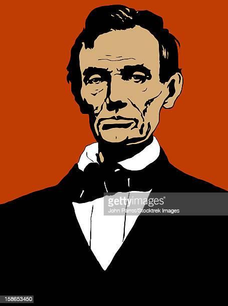 Vintage Civil War era print of President Abraham Lincoln.