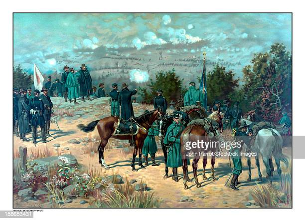 Vintage Civil War poster of the Battle of Missionary Ridge.