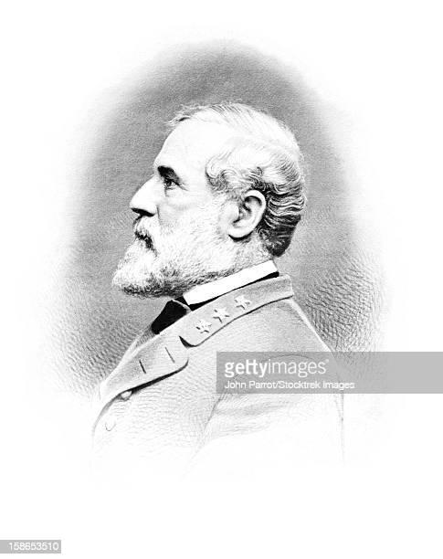 Vintage Civil War print of General Robert E. Lee.