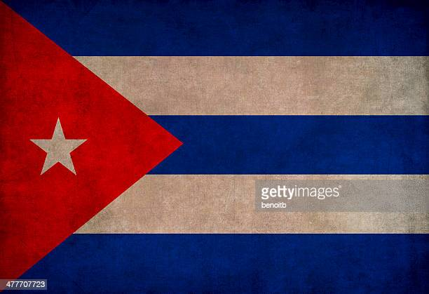vintage cuban flag - cuban flag stock illustrations