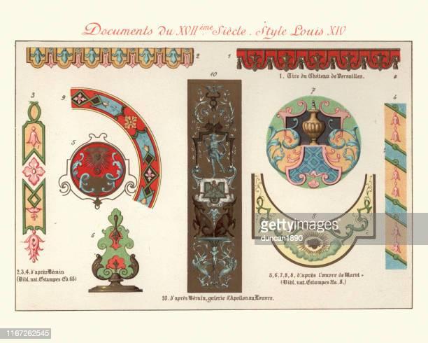 ヴィンテージ装飾的なデザイン要素、17世紀ルイxivスタイル - 新古典派点のイラスト素材/クリップアート素材/マンガ素材/アイコン素材