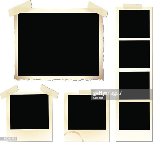 vintage frame set - photograph stock illustrations