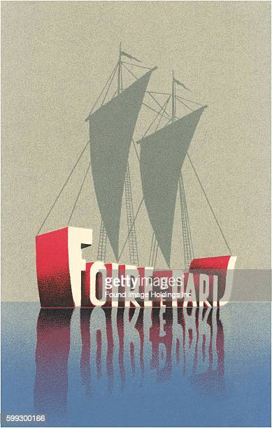 Vintage French illustrated advertisement 'Foire de Paris' ship Paris exposition 1920s