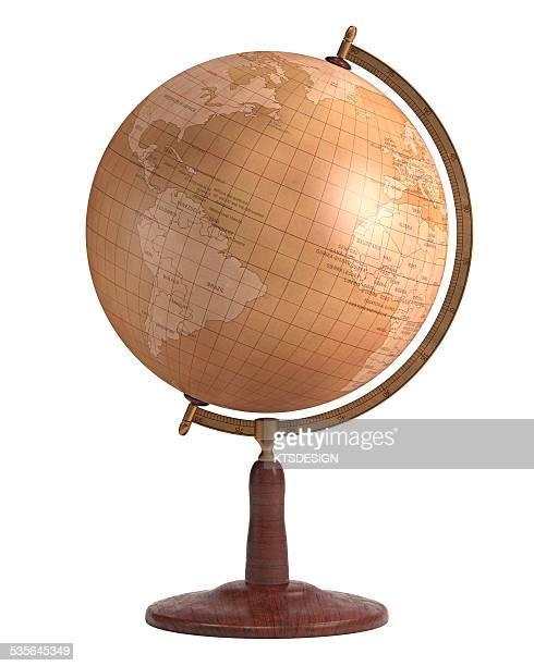 vintage globe - old fashioned stock illustrations