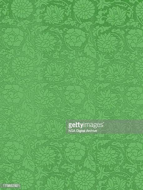 vintage green wallpaper - victorian wallpaper stock illustrations