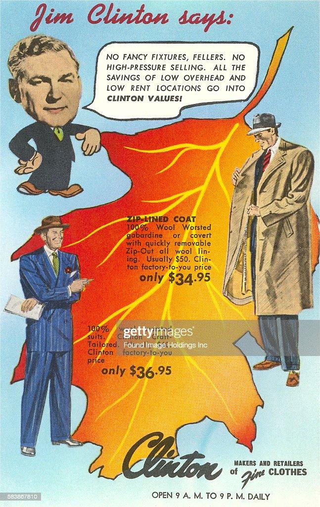 Vintage Illustration Of A Men S Clothing Advertisement Jim News